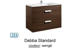 Rocco Debba vanity unit with sink in wenge Brand new boxed vanity unit & sink