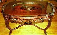 antique belle table 1850 pres de 1900 sculpté rococo