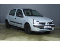 Renault 1.2 16V Clio 2002 Petrol 5-dr 12 Months MOT only £650