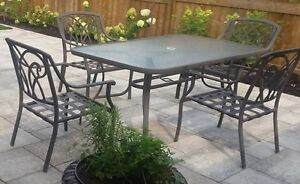 Patio set. Table with 6 chairs