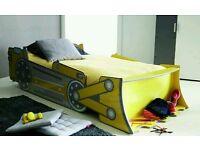 Kids Bed JCB Digger Bulldozer 3ft single bed brand new boxed