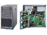 Fujitsu TX100 S1 Server Xeon Quad Core 2.4Ghx 2 x 500GB HDD SERVER 2003 1-4