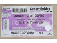 Creamfields 4 day ticket