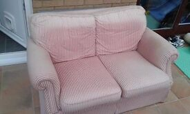 2 seater sofa, in good structural condition but in need of upholstering - free to a good home