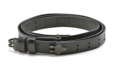 BLACK LEATHER M1907 MILITARY RIFLE SLING M1GARAND 1903 SPRINGFIELD  for sale  USA