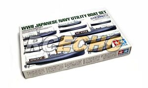 Tamiya Military Model 1/350 War Ship WWII Japan Navy Utility Boat Set 78026