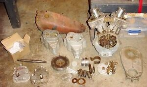 Antique 1934 Indian Sport Scout engine with title & spares London Ontario image 1