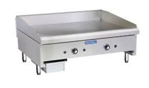 """Royal Heavy Duty 36"""" Thermostatic Chrome Griddle"""