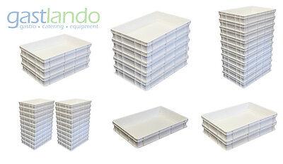 Pizzateigbehälter weiß NEU Pizzaballenbox Weiß 600 x 400 x 100 mm Gastlando Pizza Box