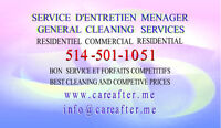 Cleaning services West-island Nettoyage Montreal Ouest appelez