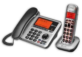 BigTel 1480 Desk and Cordless Phone Set.... new