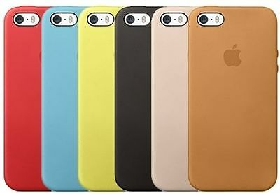 OEM Genuine Apple Leather Slim Hard Case For iPhone 5, iPhone 5S, iPhone SE](refurbished iphone 5 deals)