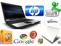 Fast HP Compaq 6930p Intel Core 2 Duo 4GB RAM 160GB HDD Cheap Window 7 Laptop