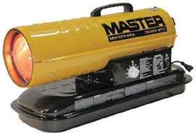 Master Mh-75t-kfa Kerosene Forced Air Heater With Thermostat 75000 Btu