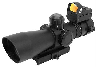 Mark III 30mm Compact 3-9x42 Tactical P4 Sniper Rifle Scope Red Dot (Ncstar Mark Iii Tactical P4 Sniper 3 9x42)
