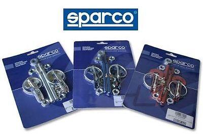 SPARCO UNIVERSAL HOOD PIN LATCH LOCKING RACING CAR RED LOCK KIT SET PAIR 01606AR