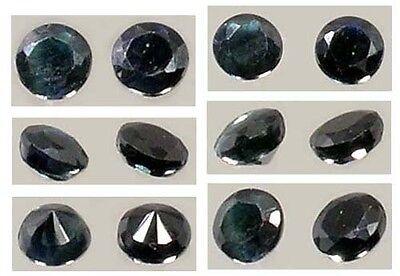 Two Antique 19thC Dark Blue Sapphire Ancient Greek Roman Magic Gemstones