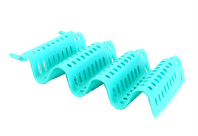 NEW10set Wave curlers perms & setting Sky Blue Rods 7*13cm Protect hair Breakage
