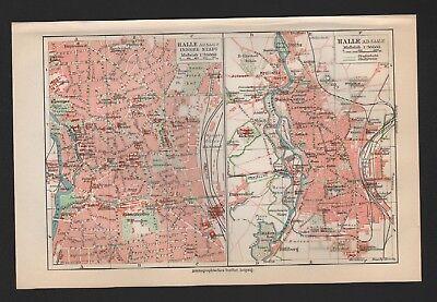 Landkarte city map 1926: Stadtplan: HALLE/SAALE. Innere Stadt.