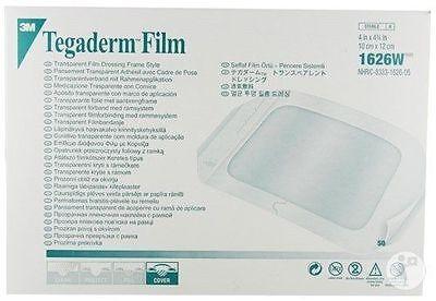 x100 TEGADERM Film Transparent Film Dressing 10cm x 12cm 1626W
