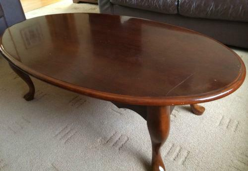 Wooden Oval Coffee Table Ebay