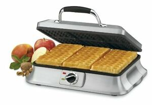 Cuisinart WAF-6C Traditional 6-Slice Waffle Iron Stainless Steel