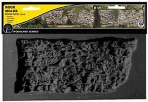 Woodland Scenics 1248 Rock Mold - Rock Face, Flexible, Reusable - NIB