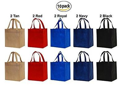 Earthwise Reusable Grocery Bags Shopping Totes Eco Friendly ( 10 Piece (Eco Friendly Reusable Bags)