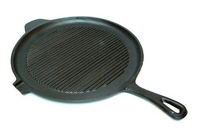 Cast Iron Round Grill Pan - Old Mountain Cast Iron  Preseasoned Round Griddle/grill Pan