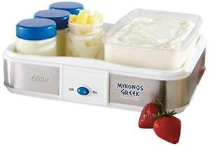 NEW Oster Mykonos Greek Yogurt Maker, Large CKSTYM1010-033
