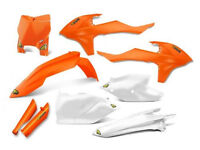 New Cycra KTM SX SXF 125 250 350 450 2016 OEM Orange Fork Guard Plastic Kit