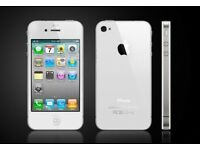 Apple iPhone 4 - 8GB - Black/white (Unlocked) - Average Condition
