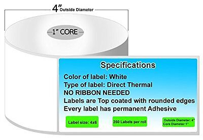 1 Roll 4x6 Zebra Coding Lables With Lp2844 Labels Material Direct Thermal