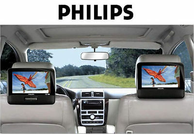 """Philips PD9012 9"""" Dual LCD Screen Portable DVD Player - Keeps Kids Happy in Car!"""