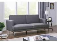 New 3 Seater Grey Fabric Sofa Bed (B58-51347)