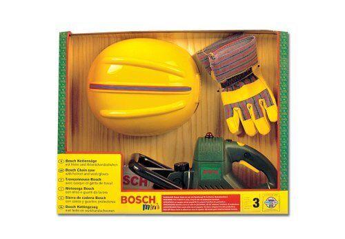Theo Klein Bosch Kettensäge Helm Handschuhen Kinder Rollenspiele Spielwerkzeug
