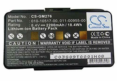Cameron Sino CS-GM276 Extended Battery for Garmin GPSMAP 276 276c 296 G396 496