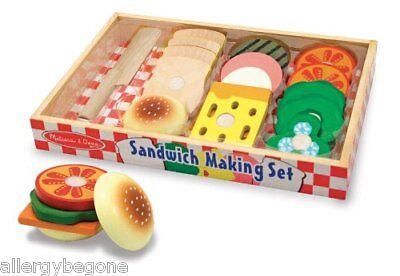 Melissa and Doug Wooden Sandwich Making Set #513