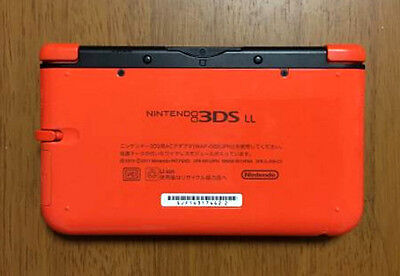 USED Nintendo 3DS LL Console System Only Limited Pack Orange X Black JAPAN
