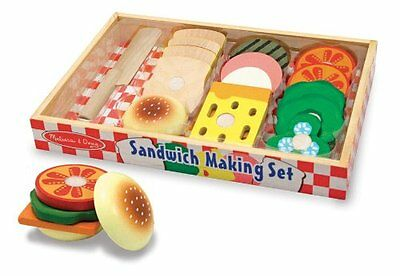 Melissa and Doug Wooden Sandwich-Making Set , New, Free Shipping