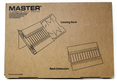 - Master Catalog Rack, Organizes and Displays Loose-Leaf Materials, Gray (MAT12G)