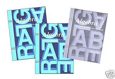 SAXON ALGEBRA 1/2 3rd EDITION HOME STUDY KIT GRADE 8 HOMESCHOOL NEW!
