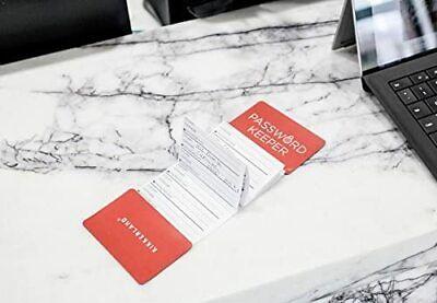 Kikkerland Mini Password Keeper Folding Log Book Reminder Diary Organiser Gift
