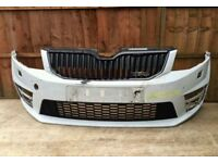 skoda Octavia Vrs front bumper 2014 + with grill
