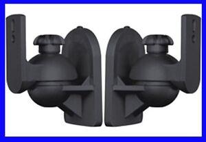 Paar Lautsprecherhalter Box Wandhalter Neigbar Dehbar z.B. für Bose, Teufel usw.