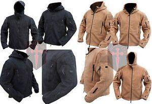 BLACK-Coyote-Tan-Fleece-Recon-Hoodie-All-Sizes-unisex-military-design-Warm