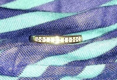14K yellow gold over Sterling Silver 925 cz Toe Ring jewely foot free shipping