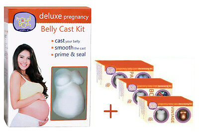 ProudBody DELUXE BELLY CAST KIT Pregnancy Casting Kit + Gesso Primer & Paints