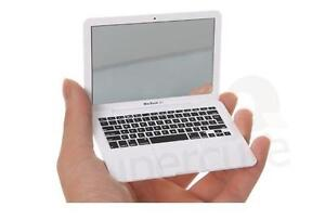 Silver Apple Macbook Air Shaped Mini Makeup MirrorBook  Compact Mirror CJ09