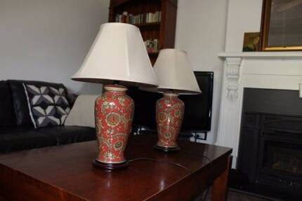 Gorgeous ceramic base table lamps set of 2